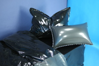 latex bedding - black / metallic pewter thumbnail
