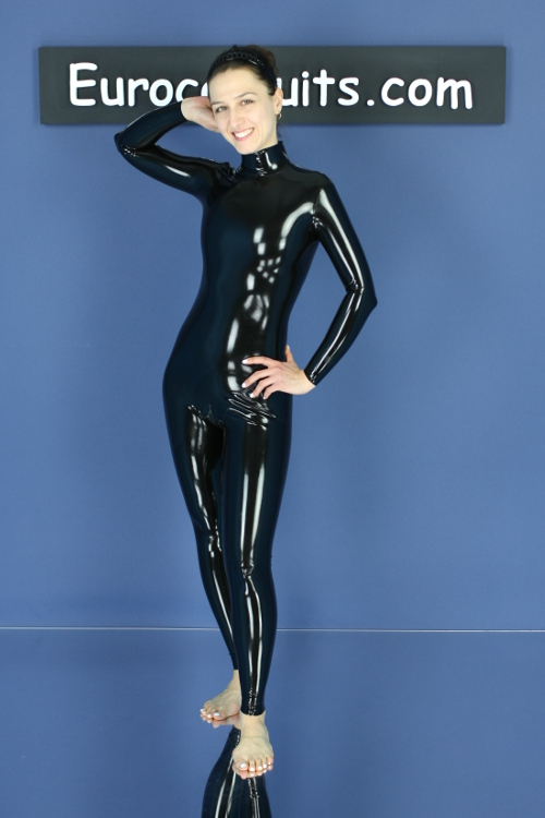 made-to-measure latex catsuit with zipper - basic model with no options