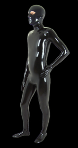 2-piece latex catsuit