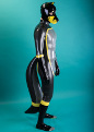 latex fox catsuit