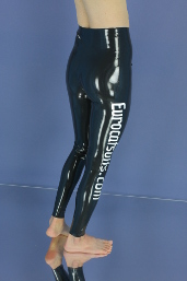 made to measure latex leggings with print