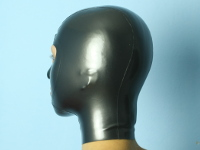 made to measure latex mask in metalic pewter 0.4mm