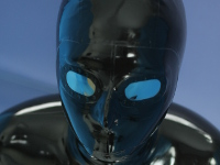 latex mask with mirror lens