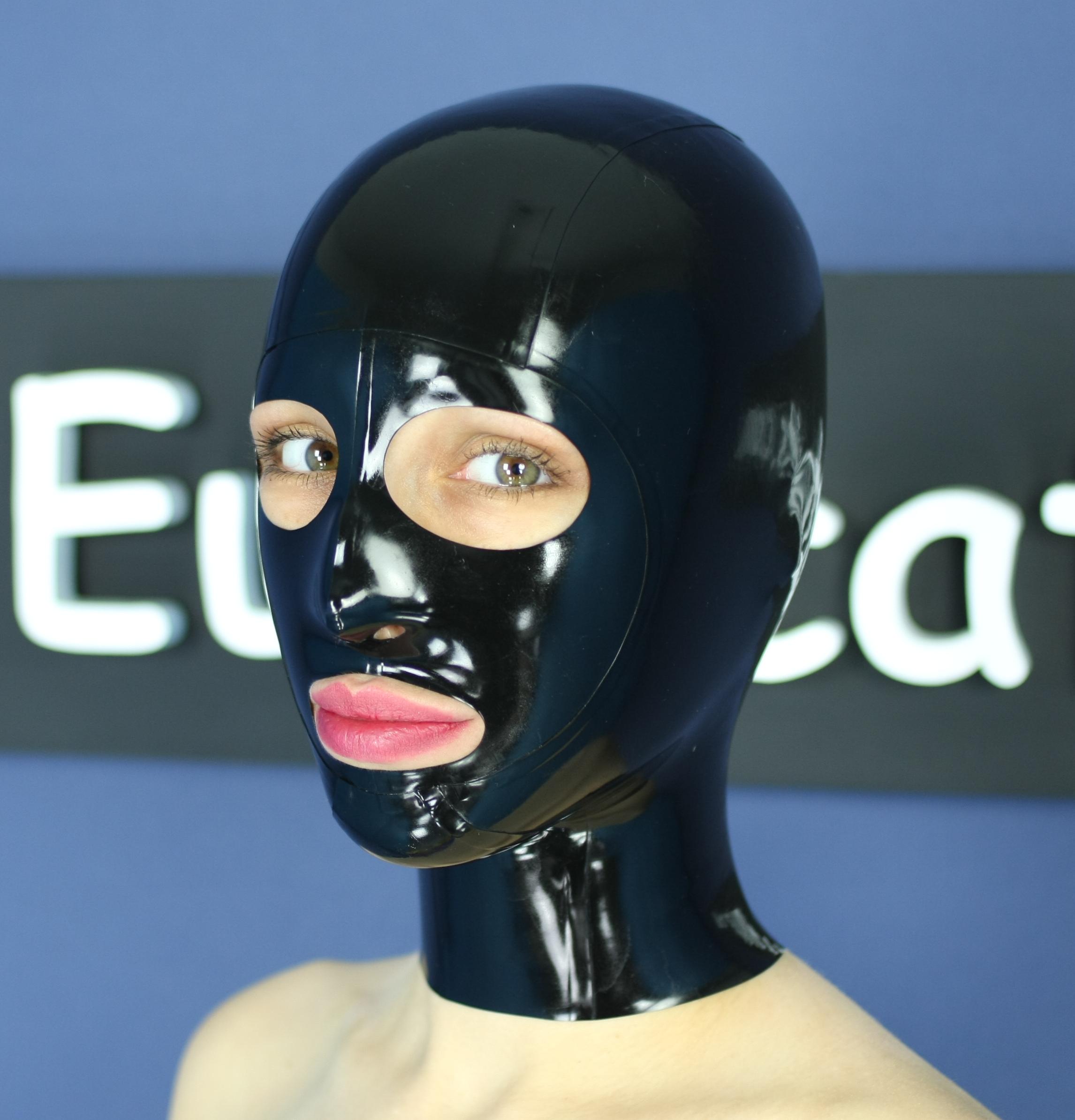 A latex mask