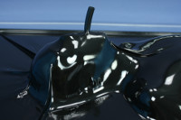 black latex vacbed with breathing hose and steel frame thumbnail